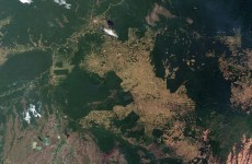Satellite photos show damage to the earth caused by humans