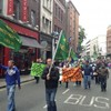 Lockout protest: Mini-march, TD jostled and pepper spray