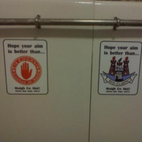 The urinals in this Mayo bar have an interesting new re-design