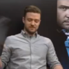 Nervous Brazilian reporter gives Justin Timberlake replica of her arse