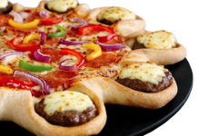 You can now buy a Cheeseburger Crust Pizza in Ireland