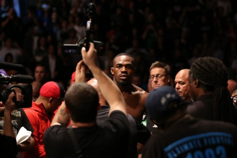 Jones: can he stand up to a bigger man in Gustafsson?