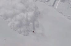 Terrifying footage as skier falls trying to escape avalanche