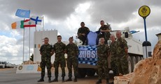 Blue army bring bus stop to cheer on Dublin in Lebanon