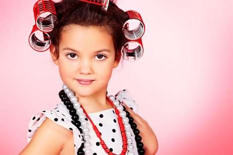 Child in rollers