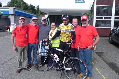 With a little help from my friends: O'Reilly and his support crew in Killarney this week.