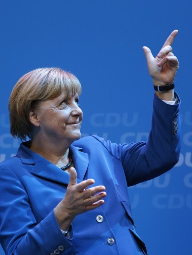After 'super-result' Merkel begins search for German coalition partner