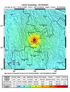 Two large earthquakes shake Burma