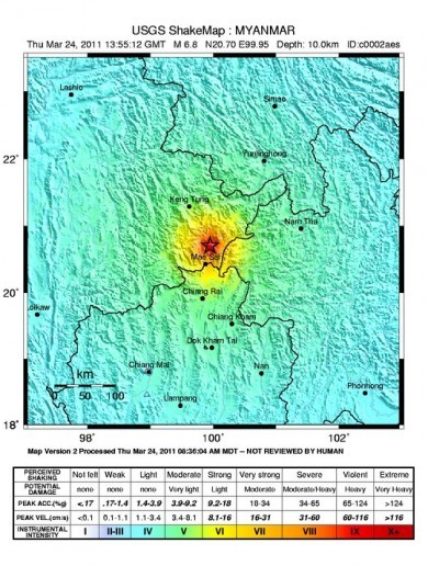 Two large earthquakes shake Burma