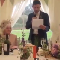 This football-related wedding speech is truly inspired