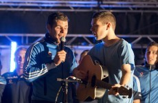 Kevin McManamon sang The Killers at Dublin's homecoming