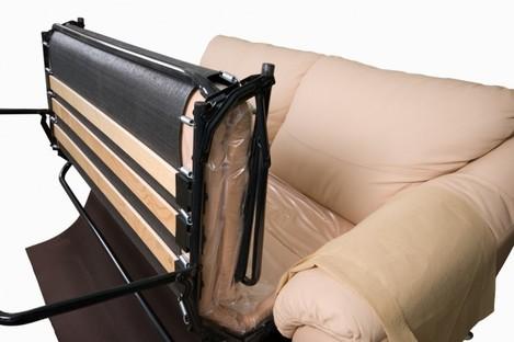 The mechanism of a modern soft sofa.