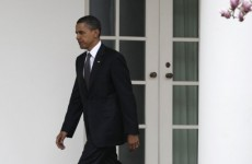 Video: Obama arrives home early... and can't get into White House