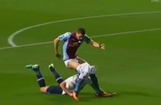 Jan Vertonghen pulled a Villa striker's shorts down and got away with it