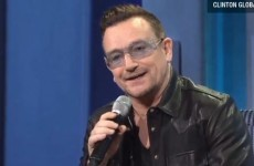 So, Bono does a fairly good impression of Bill Clinton