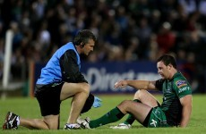Connacht's Willie Faloon out for up to five months