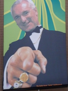 This boomtime poster of Bertie Ahern with bling sums up the Celtic Tiger