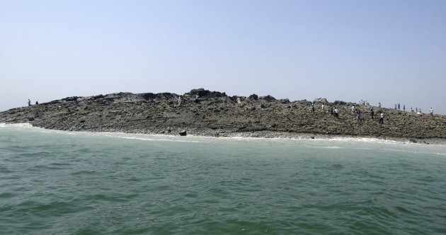 This is a new island created by the massive earthquake in Pakistan