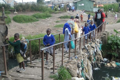 A file image of the Mukuru slum in Nairobi