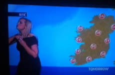 Singing RTE weather forecaster doesn't realise she's still on camera