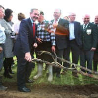 PICS: Enda Kenny did some ploughing in Laois today