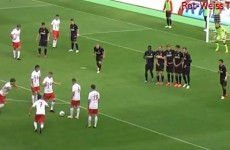 German fourth-division side score class free-kick