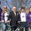 Students set off on cycling fundraiser for Pieta House