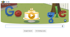 Google's 'Happy Birthday' doodle to itself is quite addictive