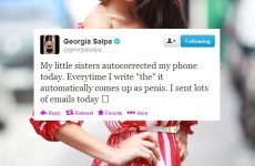 Tweet Sweeper: Georgia Salpa has an autocorrect nightmare