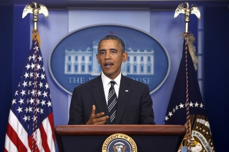 President Obama making his statement about the phonecall.