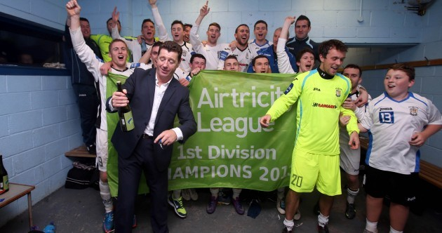 Snapshot: Roddy Collins and Athlone Town celebrate after sealing First Division title