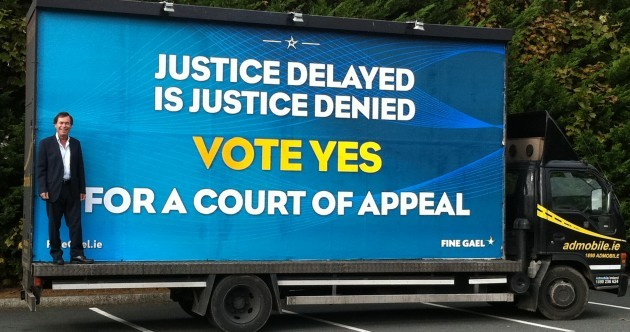 Pic: Alan Shatter's Court of Appeal roadshow