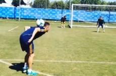 Robbie Keane scores an incredible goal in training