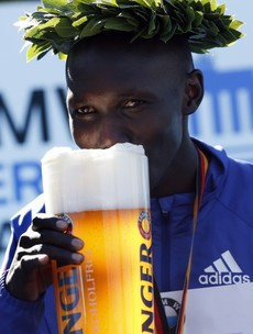 This is how you celebrate a new marathon world record