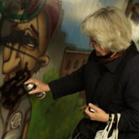 German woman dedicated to removing neo-Nazi propoaganda