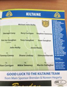 Mayo club side Kiltane name 28 subs for county final
