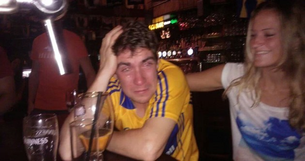 Tears of joy from Shane O'Donnell's brother as he watches hat-trick performance from Israel