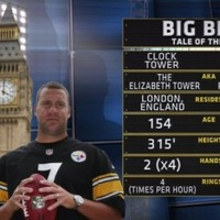 CBS compare statistics of a clock and the Steelers quarterback