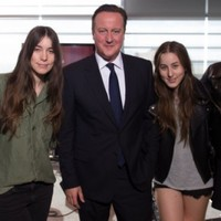 WATCH: Haim dedicate song to their newest fan... David Cameron