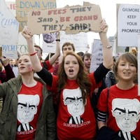 Student grant protests planned across the country today