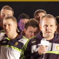 VIDEO: Davy says 'let that recession go to hell' as Clare celebrate