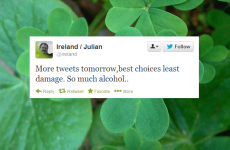 The @Ireland Twitter account had a big night last night