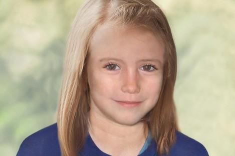 A handout photo of an age progression image of Madeleine McCann.