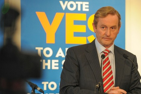 Enda Kenny at a Fine Gael event during the referendum campaign