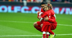 Snapshot: Suarez introduces 10-day old son, young daughter to Anfield before kick-off