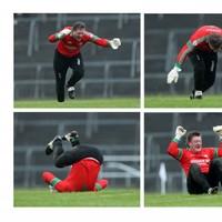 St Brigid's goalkeeper Shane Curran enjoyed himself today
