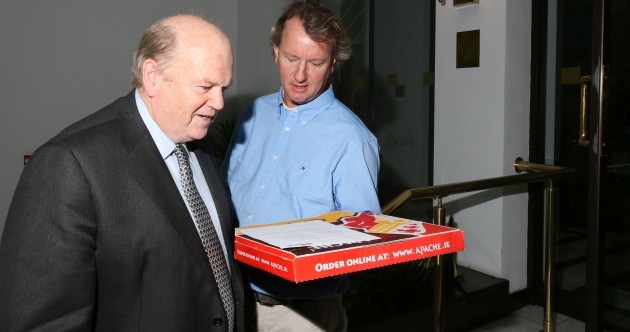 PIC: Michael Noonan got a free pizza for his lunch today*