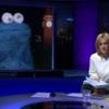 Cookie Monster interviewed on BBC's Newsnight
