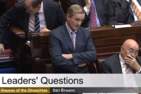 Enda Kenny in the Dáil today
