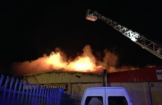 Fire services fight massive blaze in Coolock
